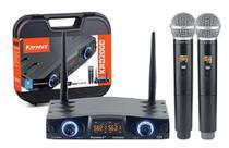 Microfone sem Fio Duplo Bastão Mão KRD200DM Karsect 16 Frequências -