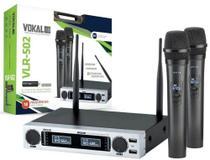 Microfone sem Fio Duplo com Bateria de Lithium VLR-502 VOKAL -