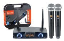 Microfone Sem Fio Duplo Karsect Krd200d Uhf Mão -