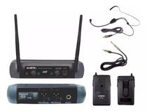 Microfone Sem Fio Duplo KSR Headset + Transmissor de Instrumentos -