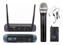 Microfone Sem Fio Duplo KSR Mão + Headset -