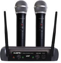 Microfone Sem Fio Duplo Ksr Pro 002d Ht Mão + Mão -