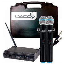 Microfone Sem Fio Duplo Lyco Uh02mm -