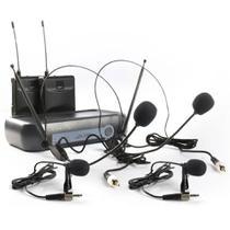 Microfone Sem Fio Duplo Lyco VH02MAX HLHL Headset e Lapela -