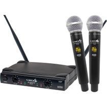 Microfone Sem Fio Duplo Mão Lyco UH08MM UHF -