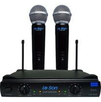 Microfone Sem Fio Duplo Uhf - Leson Ls 902 Ht/ht Original -