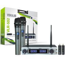 Microfone Sem Fio Duplo Vokal VLR502 -