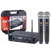Microfone Sem Fio Dvs100dm Duplo Mão Vokal -