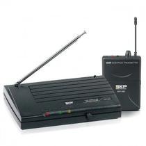 Microfone sem fio Headset de Cabeça e Guitarra VHF-895 SKP -