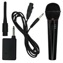 Microfone sem Fio Karaokê FM 600 Ohm Completo - Maxmidia