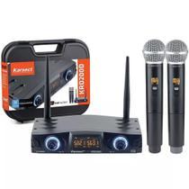 Microfone Sem Fio Karsect KRD200 DM Duplo digital tipo shure -