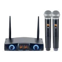 Microfone Sem Fio Karsect KRD200 DM Duplo Mão -
