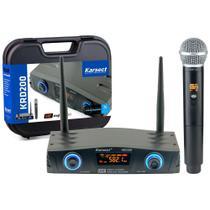 Microfone Sem Fio Karsect KRD200 SM Mão -
