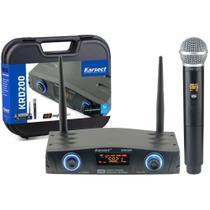 Microfone Sem Fio Karsect Krd200sm Single de Mão 11934 -