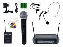 Microfone Sem Fio Lyco Duplo Vhf Mao Headset Vh02max-Mhl -