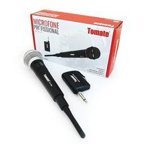 Microfone sem Fio Profissional 2 em 1 Tomate MT-2002 Karaokê Palestras -