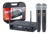 Microfone Sem Fio Profissional Duplo Vokal Dvs100dm -