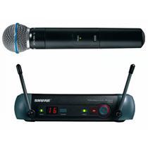 Microfone Sem Fio Shure PGXD24BR Beta 58 Digital Mão -