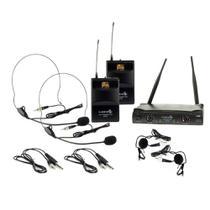 Microfone sem Fio UH-08HLIHLI Duplo 52 Frequências - Lyco -
