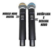Microfone Sem Fio UHF Lyco Duplo Bastão UH02MM -