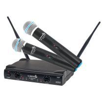 Microfone Sem Fio Uhf Lyco Uh02mm Mao Duplo -