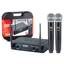 Microfone Sem Fio Vokal DVS100 DM Duplo Mão -
