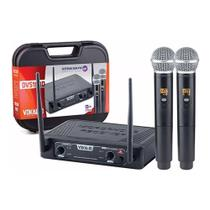 Microfone Sem Fio Vokal DVS100DM Duplo Mão -