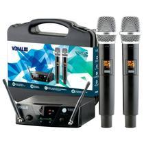 Microfone Sem Fio Vokal VMS12 Duplo -