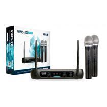 Microfone Sem Fio Vokal VWS-20 Plus Duplo De Mão C/ Nf + Garantia -