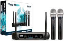 Microfone sem Fio Vokal VWS20 Plus 2 Microfones VHF -