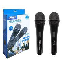 Microfone Semi-Profissional para Karaokê Caixas de Som Cabo 3M - Kit C/2 - Flix Mobile
