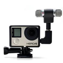 Microfone Stereo Externo + Frame + Adaptador para Câmeras GoPro Hero 3, 3+, 4 - Shoot