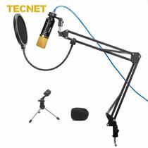 Microfone Tecnet - MK-F400USB Preto e Dourado -