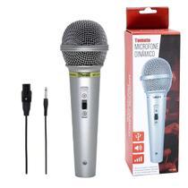 Microfone Unidirecional Profissional com Fio Tomate MT-1018 -