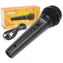 Microfone Vocal De Mão Profissional Com Fio Shure SV200 -