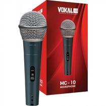 Microfone Vokal Com Cabo + Suporte Para Microfone Mc-10 Mc10 -