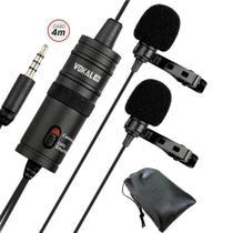 Microfone Vokal Lapela Duplo Slm20 Profissional -