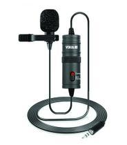 Microfone Vokal Lapela Slm10 Para Celular com Fio -