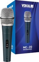 Microfone Vokal Mc20 Com Fio - PRETO -
