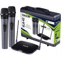 Microfone VOKAL Sem Fio Duplo Mão VLA42 -