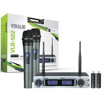 Microfone VOKAL Sem Fio Duplo Mão VLR502 -
