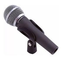 Microfone Waldman S-580 Dinâmico Cardióide com Bag e Cachimbo Preto -