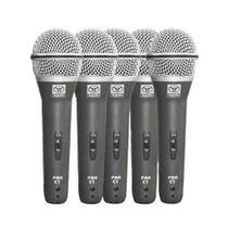 Microfones c/ Fio de Mão Dinâmico (5 Unidades) PRA C 5 - Superlux -