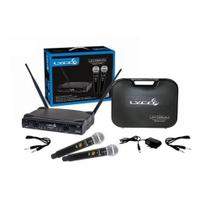 Microfones Sem Fio Lyco Duplo Uh02mm Com Display -