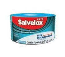 Micropore Branca 2,5cmx4,5m Salvelox -