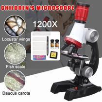 Microscópio Monocular Biologia 100x 400x 1200x - Ybx