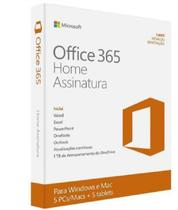 Microsoft Office 365 Home- Para Até 5 Computadores (PC ou Mac) e 5 Tablets