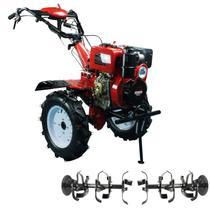 Microtrator Motocultivador Monocilíndrico a Diesel Partida Elétrica 10HP 4 Tempos OHV Ar Refrigerado 418cc - NMCD135E - Nagano