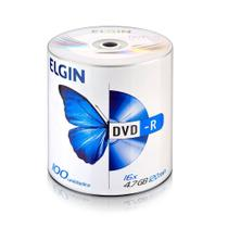 Mídia DVD-R Elgin 100 Unidades 82050 -