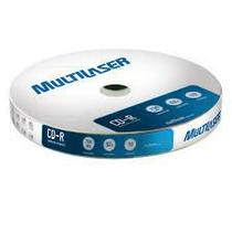 Mídia Multilaser Cd-R Vel. 52X - 10 Un. Shrink - CD027 -